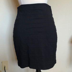 Express Black Seamed Pencil Skirt